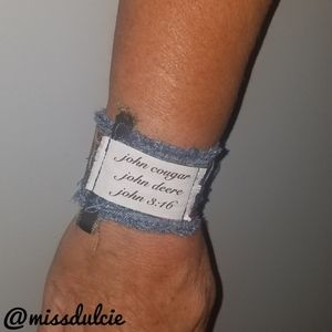 Grunge Style Bracelet Cuff Quote Faith Relgion